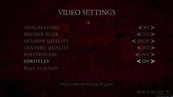 生化危机4终极HD版怎么开启字幕 字幕开启的方法教程