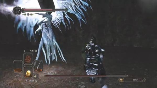 黑暗之魂2暗天使近战打法视频 火之长剑血拼暗天使