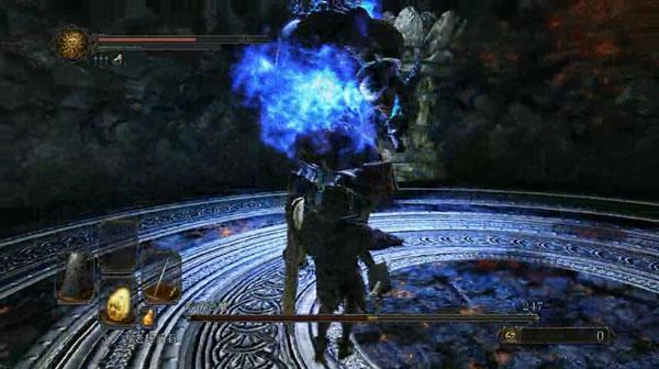 黑暗之魂2钢铁之王DLC的王冠蓝色溶铁恶魔单刷视频