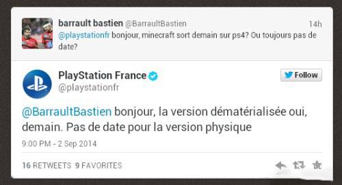 《我的世界》PS4版今日发售 Xbox One版本于后天发售
