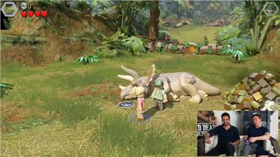 乐高侏罗纪世界新关卡演示 恐龙、小人萌萌哒