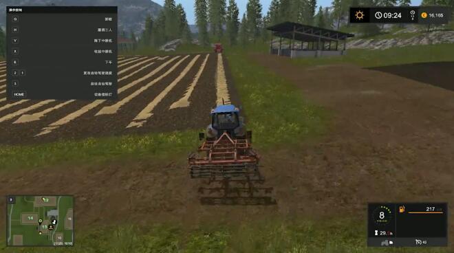 模拟农场17娱乐解说实况视频第二期 享受乡村生活