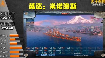 战舰世界英巡米诺陶斯实战打法教学视频