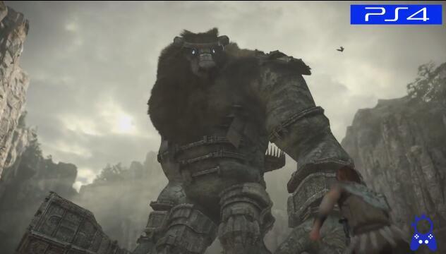 旺达与巨像PS4与PS2画面对比视频