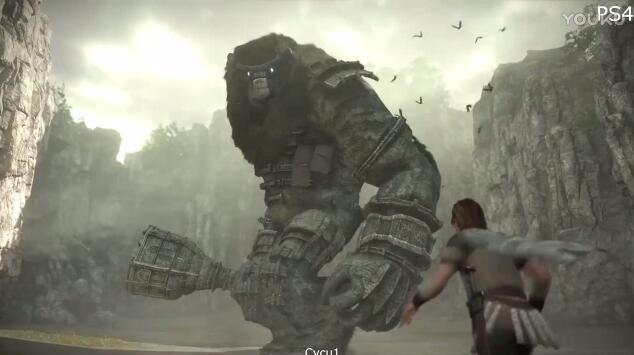 旺达与巨像PS4与PS3画面对比视频