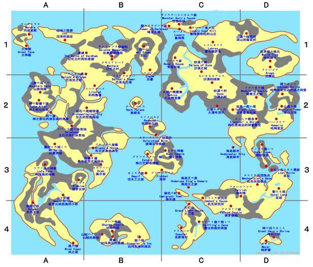 勇者斗恶龙7地图一览 勇者斗恶龙7地图详细介绍
