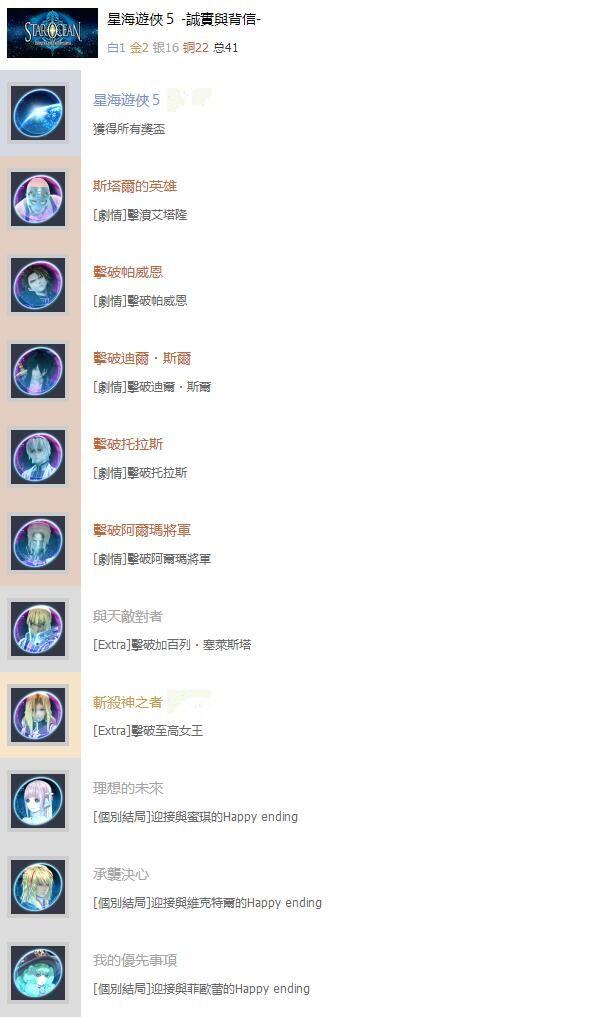 星之海洋5中文奖杯列表大全 星之海洋5全奖杯解锁条件一览