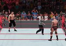 WWE2K18经典对决比赛视频 毒蛇兰迪vs塞纳