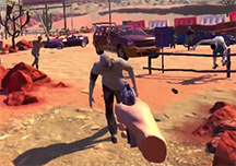 亚利桑那阳光VR试玩演示视频 一大波僵尸正在靠近