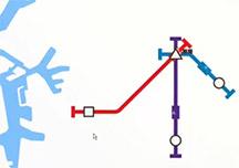 迷你地铁实况游戏解说视频 大阪地铁网搭建