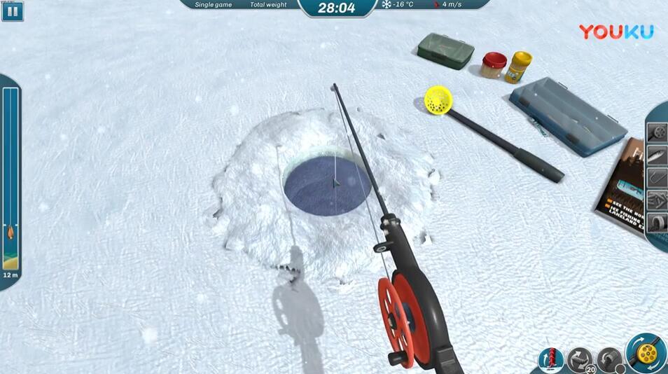 冰湖钓鱼流程第二期 冰湖钓鱼第二期攻略视频