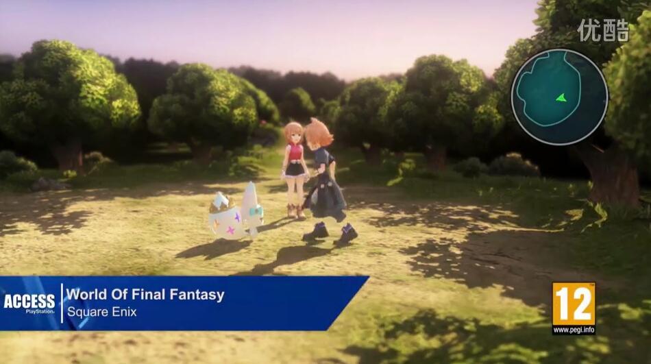 最终幻想:世界演示视频 最终幻想:世界游戏演示