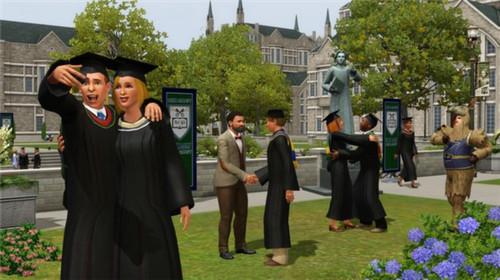 模拟人生3:大学生活校园风景 校园美景视频介绍