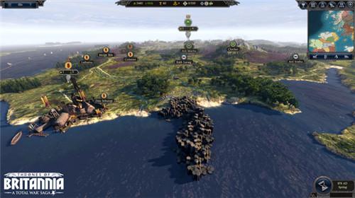 全面战争传奇:大不列颠王座地图介绍 游戏地图视频讲解