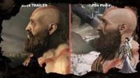 战神4画面对比视频 战神4宣传与实机画面对比