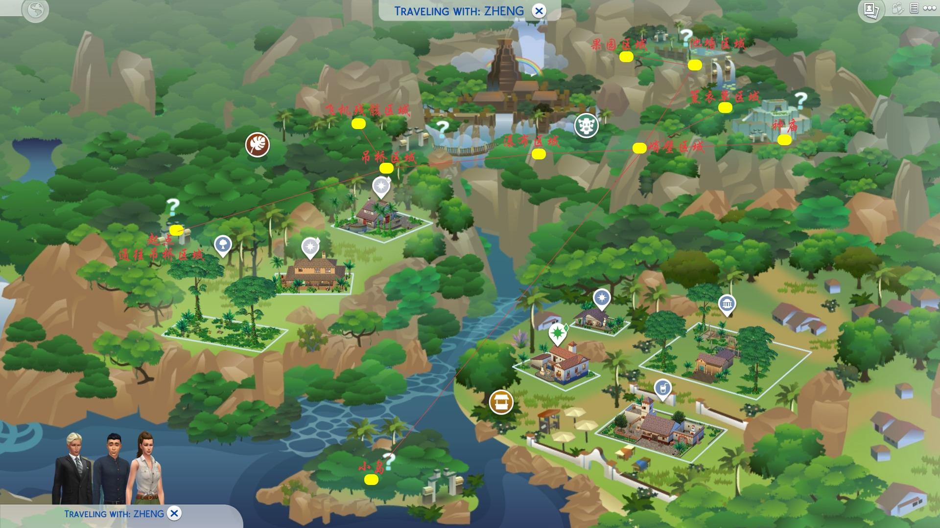 模拟人生4:丛林探险森林路线介绍 森林路线图解析