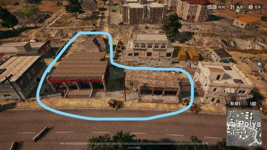 绝地求生战术大师之海岛地图y城两种打法分析