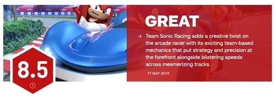 团队索尼克赛车获ign8.5分 组队玩法十分新鲜有趣