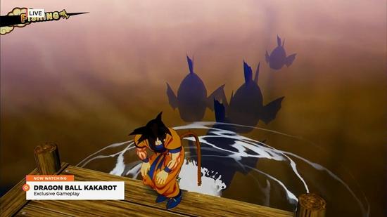 《龙珠Z:卡卡罗特》开放世界演示 悟空尾巴钓鱼