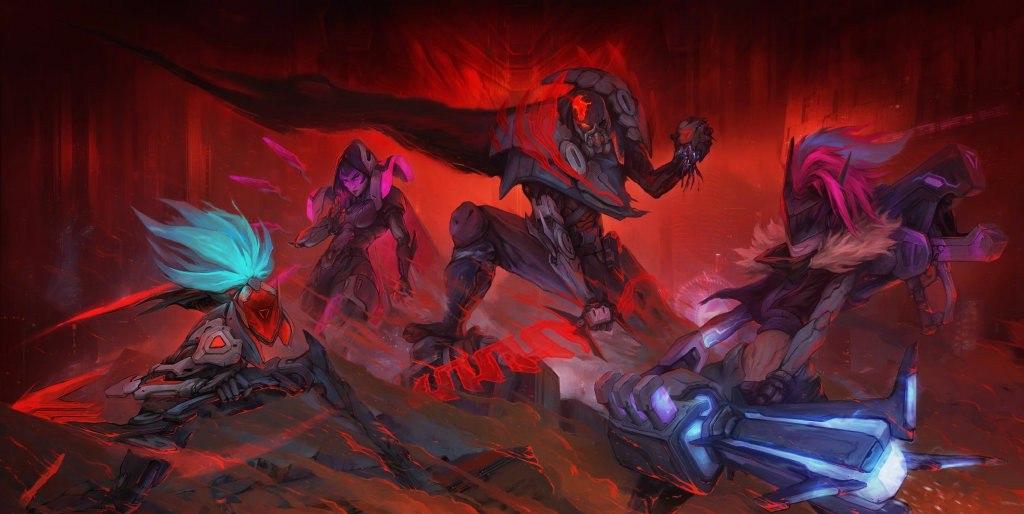 《英雄联盟》源计划预告原画:凶残派克面目狰